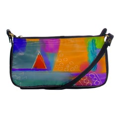 Wild Abstract Art Shoulder Clutch Bag by paintedpurses