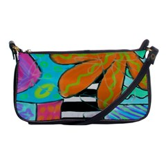 Original Abstract Art Shoulder Clutch Bag by paintedpurses