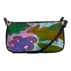 Leaves Abstract Art Shoulder Clutch Bag by paintedpurses