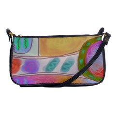 Funky Abstract Art Shoulder Clutch Bag