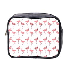 Pink Flamingo Pattern Classic Mini Toiletries Bag (two Sides) by CrypticFragmentsColors