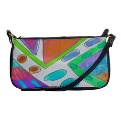 Original Abstract Art Shoulder Clutch Bag