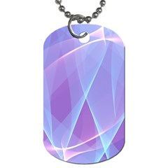 Background Light Glow Abstract Art Dog Tag (one Side)