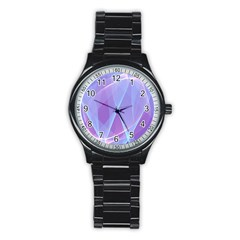Background Light Glow Abstract Art Stainless Steel Round Watch