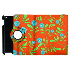 Background Texture Seamless Flowers Apple Ipad 3/4 Flip 360 Case by Sapixe