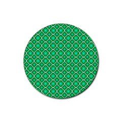 Texture Background Template Rustic Rubber Coaster (round)