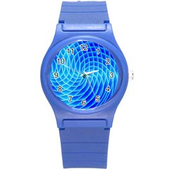 Background Light Glow Abstract Art Round Plastic Sport Watch (s)