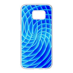 Background Light Glow Abstract Art Samsung Galaxy S7 Edge White Seamless Case