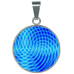 Background Light Glow Abstract Art 25mm Round Necklace by Sapixe
