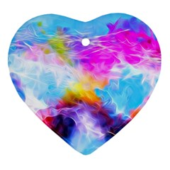 Background Drips Fluid Colorful Ornament (heart) by Sapixe