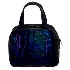 Beeches Tree Forest Beech Shadows Classic Handbag (two Sides)