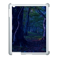 Beeches Tree Forest Beech Shadows Apple Ipad 3/4 Case (white) by Sapixe