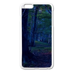 Beeches Tree Forest Beech Shadows Apple Iphone 6 Plus/6s Plus Enamel White Case