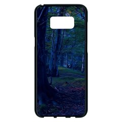 Beeches Tree Forest Beech Shadows Samsung Galaxy S8 Plus Black Seamless Case