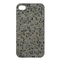 Art Letters Alphabet Abstract Text Apple Iphone 4/4s Premium Hardshell Case by Sapixe