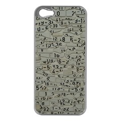 Art Letters Alphabet Abstract Text Apple Iphone 5 Case (silver) by Sapixe