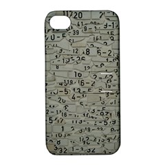 Art Letters Alphabet Abstract Text Apple Iphone 4/4s Hardshell Case With Stand by Sapixe