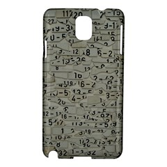Art Letters Alphabet Abstract Text Samsung Galaxy Note 3 N9005 Hardshell Case by Sapixe