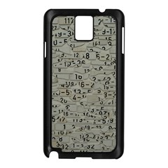 Art Letters Alphabet Abstract Text Samsung Galaxy Note 3 N9005 Case (black) by Sapixe