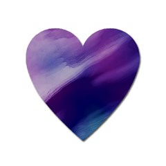 Purple Background Art Abstract Watercolor Heart Magnet by Sapixe