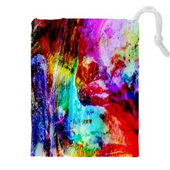 Background Art Abstract Watercolor Drawstring Pouch (xxl)