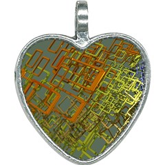 Art 3d Windows Modeling Dimension Heart Necklace by Sapixe