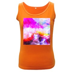 Background Drips Fluid Colorful Women s Dark Tank Top
