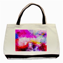 Background Drips Fluid Colorful Basic Tote Bag by Sapixe
