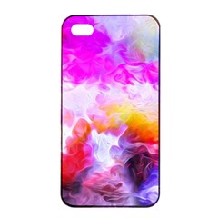 Background Drips Fluid Colorful Apple Iphone 4/4s Seamless Case (black)