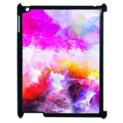 Background Drips Fluid Colorful Apple Ipad 2 Case (black) by Sapixe