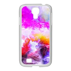 Background Drips Fluid Colorful Samsung Galaxy S4 I9500/ I9505 Case (white)