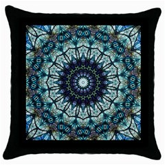 Pattern Abstract Background Art Throw Pillow Case (black) by Sapixe