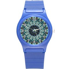Pattern Abstract Background Art Round Plastic Sport Watch (s) by Sapixe