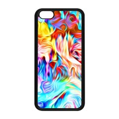 Background Drips Fluid Colorful Apple Iphone 5c Seamless Case (black) by Sapixe