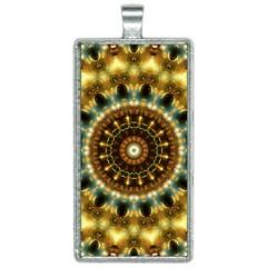 Pattern Abstract Background Art Rectangle Necklace by Sapixe