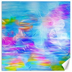Background Drips Fluid Colorful Canvas 12  X 12  by Sapixe