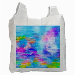 Background Drips Fluid Colorful Recycle Bag (one Side) by Sapixe