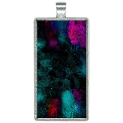 Background Art Abstract Watercolor Rectangle Necklace by Sapixe
