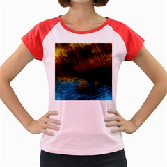 Background Cave Art Abstract Women s Cap Sleeve T Shirt