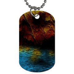 Background Cave Art Abstract Dog Tag (two Sides)