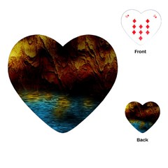 Background Cave Art Abstract Playing Cards (heart) by Sapixe