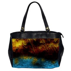 Background Cave Art Abstract Oversize Office Handbag (2 Sides)