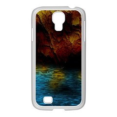 Background Cave Art Abstract Samsung Galaxy S4 I9500/ I9505 Case (white) by Sapixe