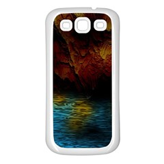 Background Cave Art Abstract Samsung Galaxy S3 Back Case (white)