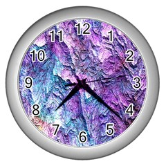 Background Peel Art Abstract Wall Clock (silver)