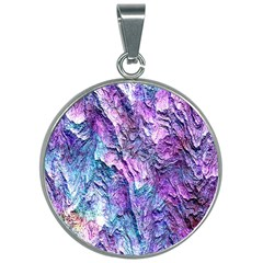 Background Peel Art Abstract 30mm Round Necklace by Sapixe