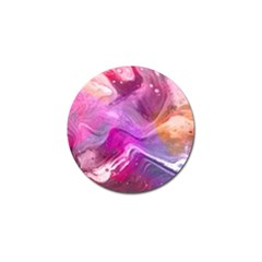 Background Art Abstract Watercolor Golf Ball Marker