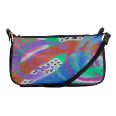 Colorful Abstract Art Shoulder Clutch Bag by paintedpurses