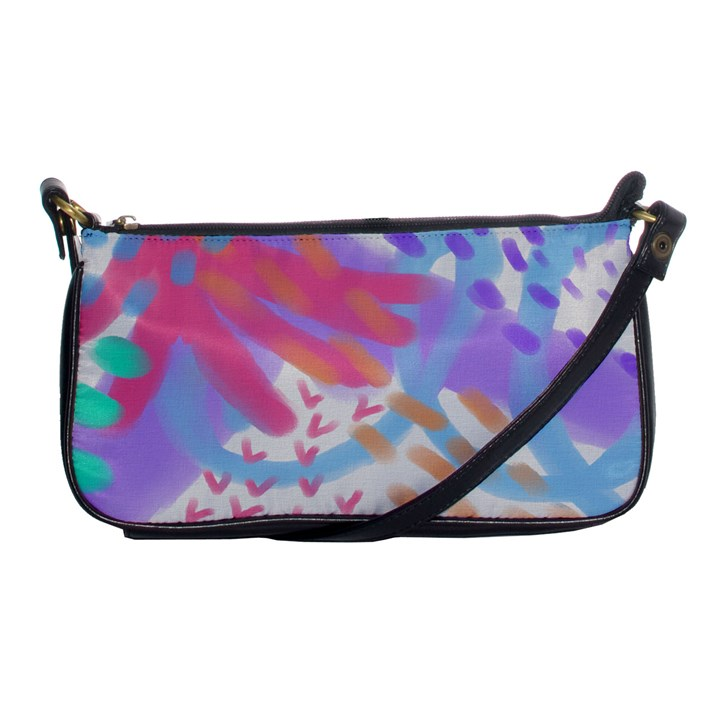 Colorful Abstract Art Shoulder Clutch Bag