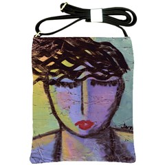 Original Abstract Art Shoulder Sling Bag by paintedpurses